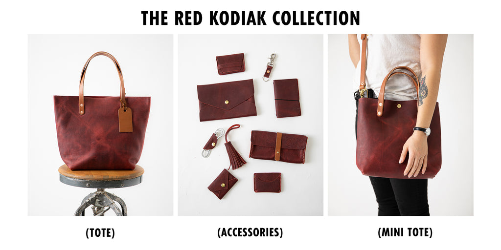 Red Kodiak leather collection at KMM & Co.