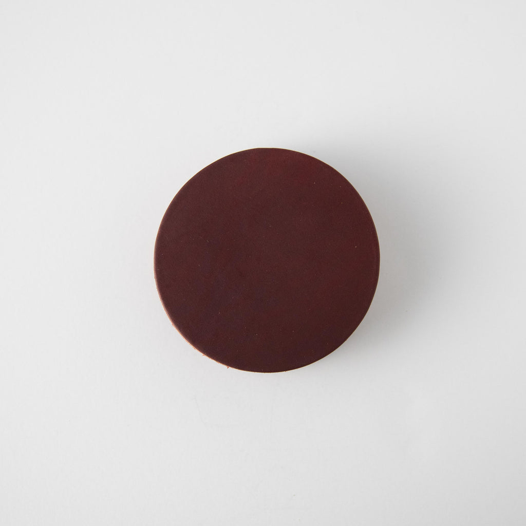 Oxblood Leather Coasters