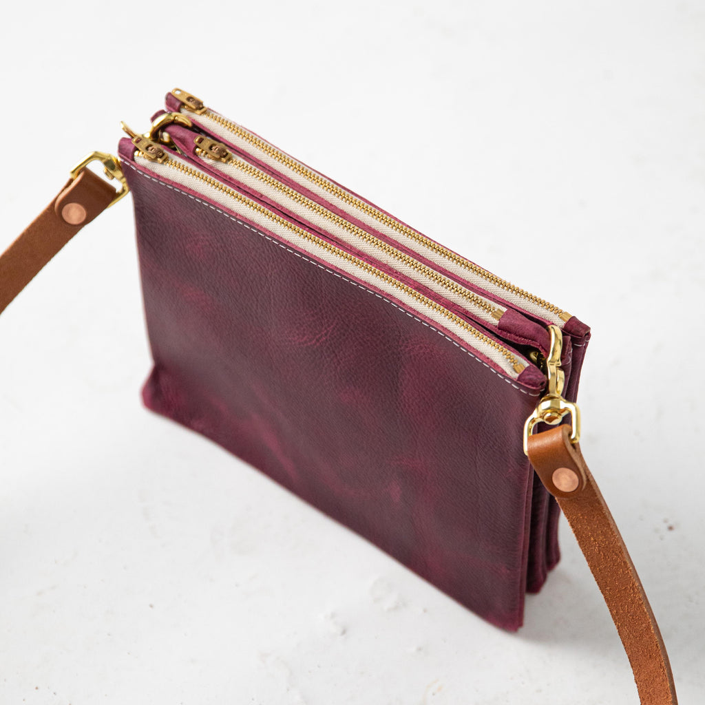 Purple Kodiak Trio Zip Bag
