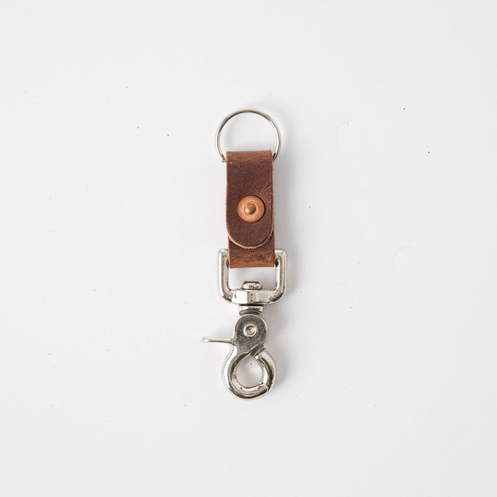English Tan Key Clip