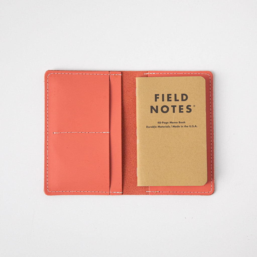Coral Pink Passport Wallet