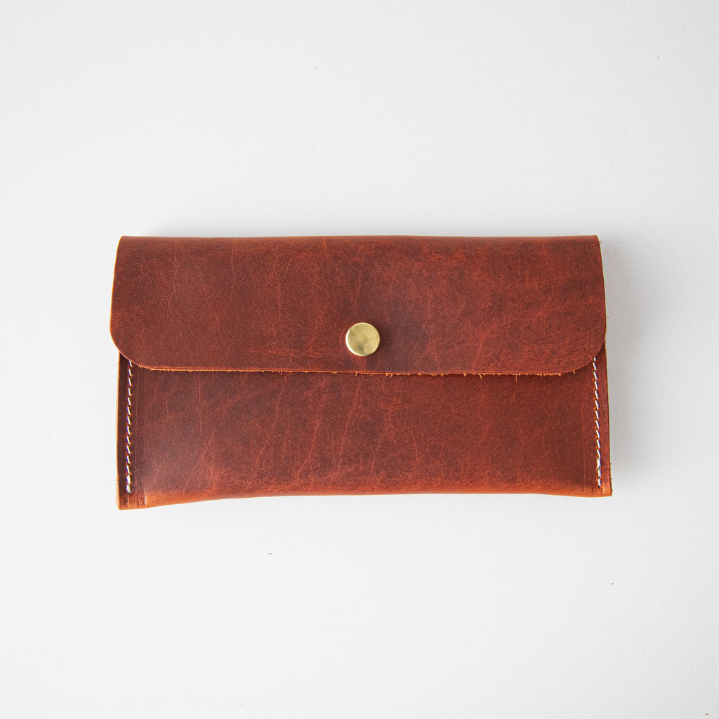 Red Bison Leather Clutch
