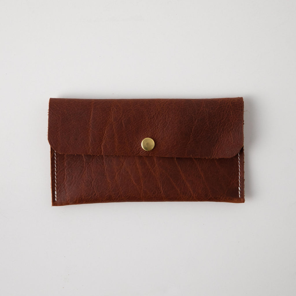 Tan Kodiak Leather Clutch