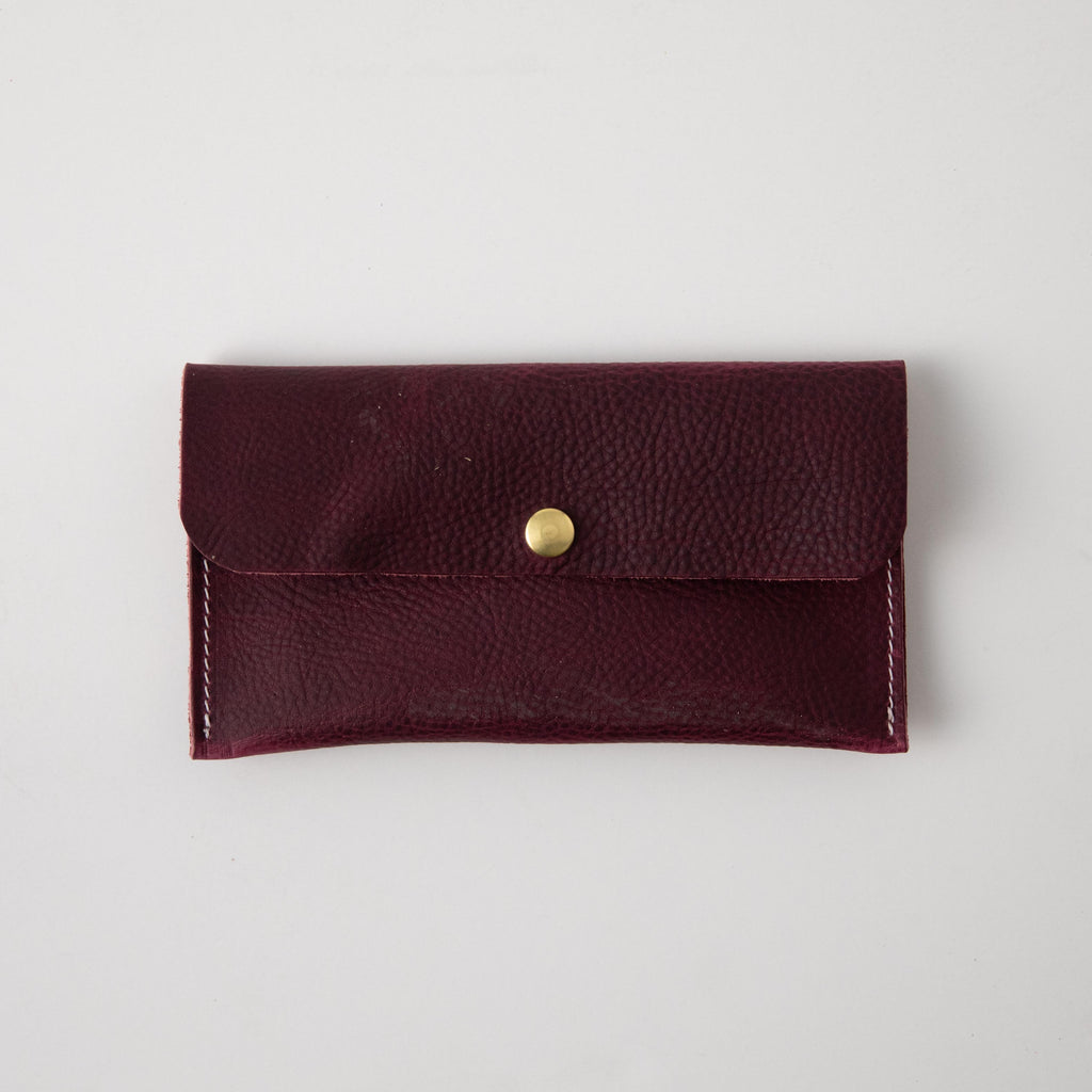 Purple Kodiak Leather Clutch