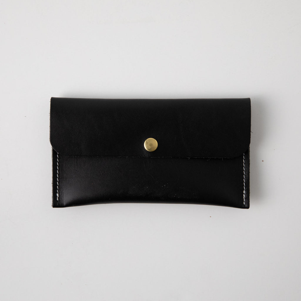 Black Harvest Leather Clutch