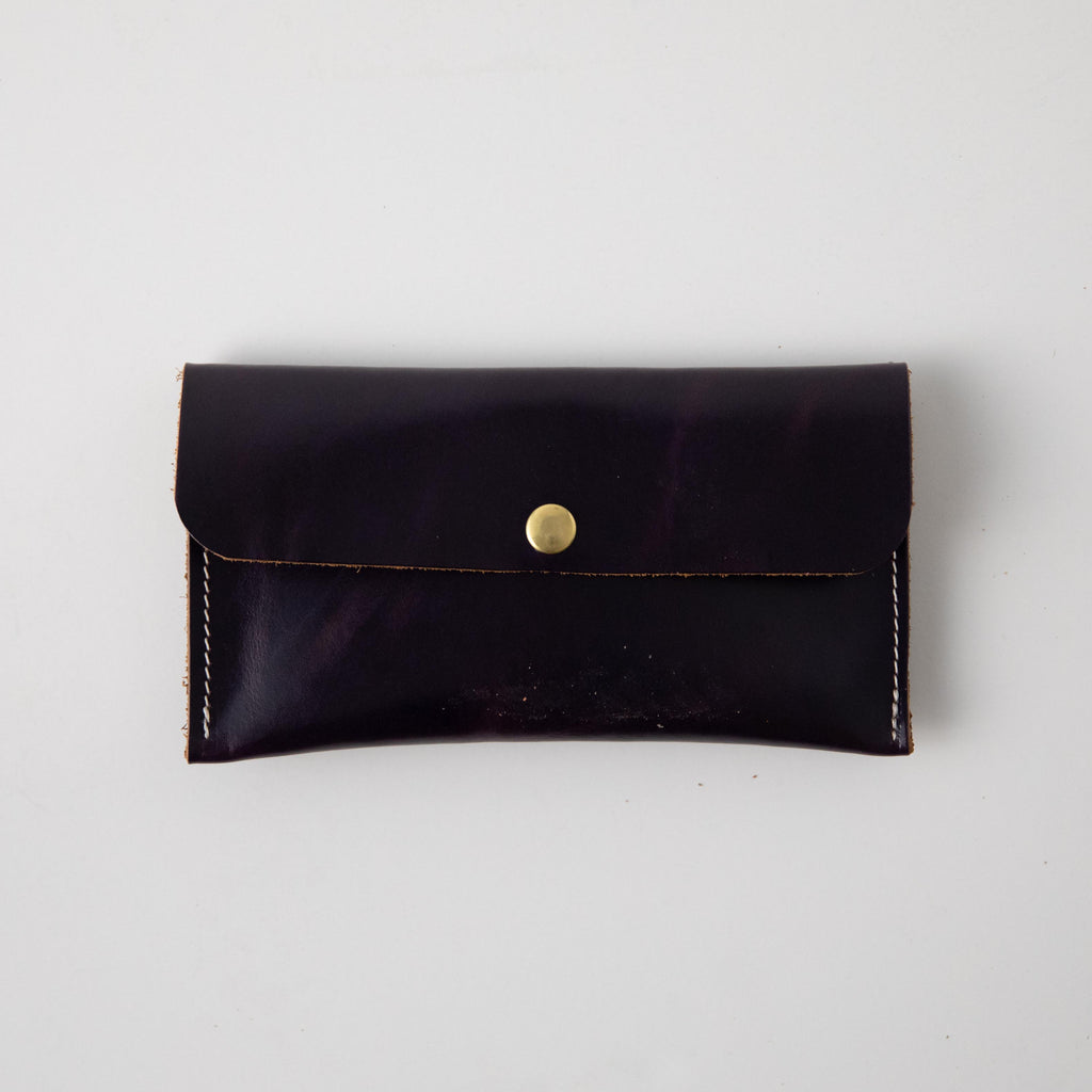 Orchid Leather Clutch