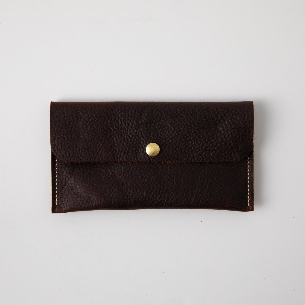 Brown Kodiak Leather Clutch