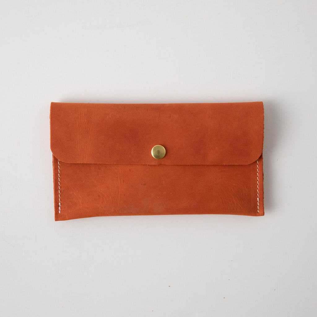 Paprika Leather Clutch