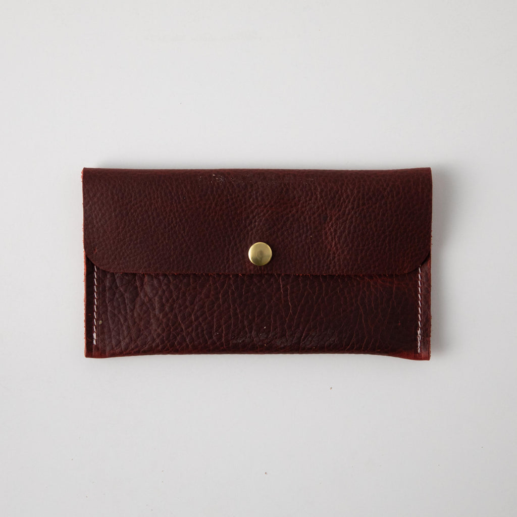 Red Kodiak Leather Clutch