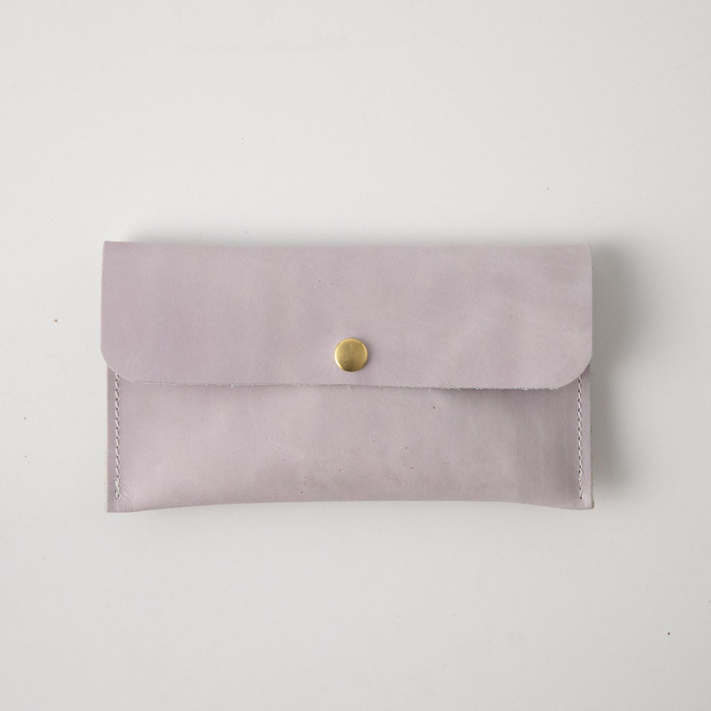 Pearl Leather Clutch