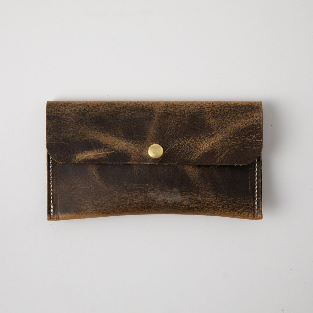 Crazy Horse Leather Clutch
