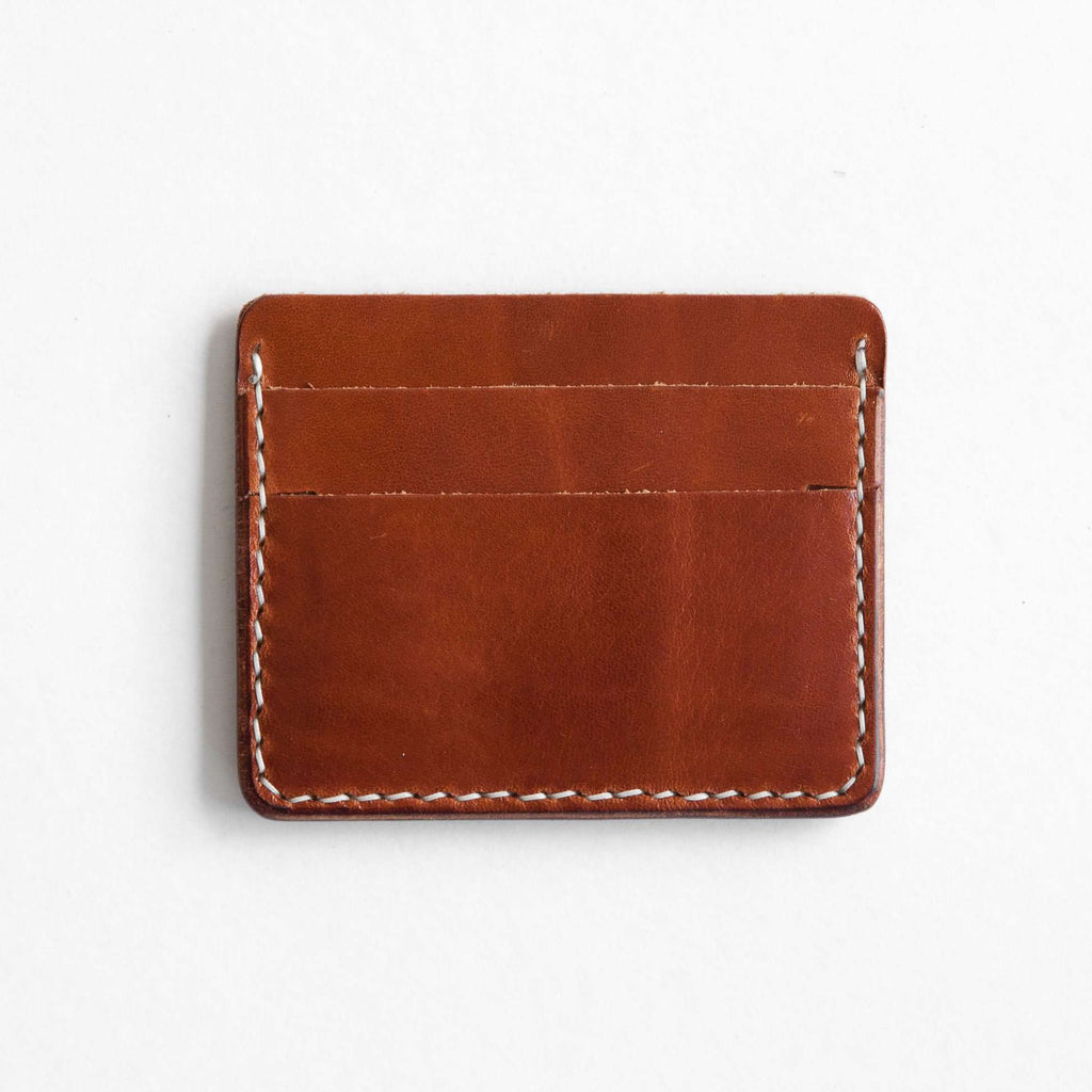 Buck brown leather card wallet