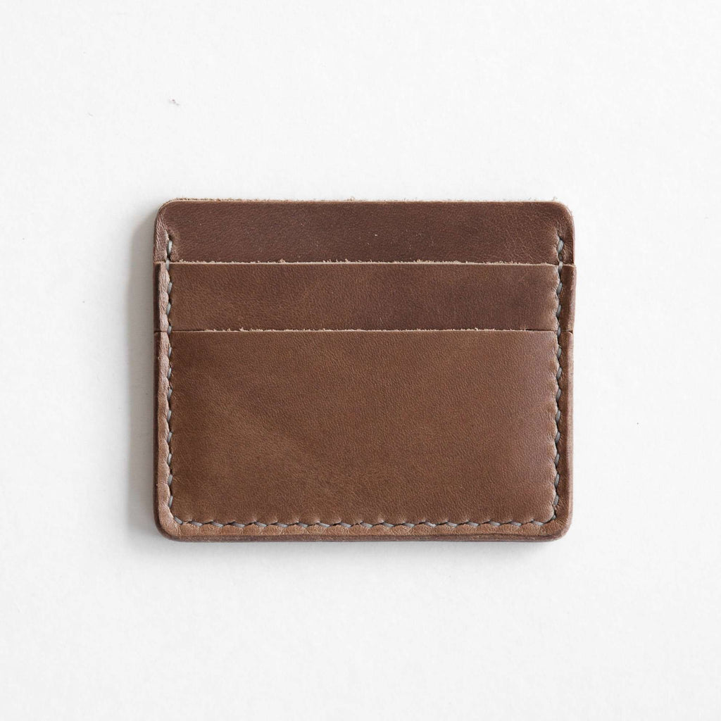Natural leather card wallet
