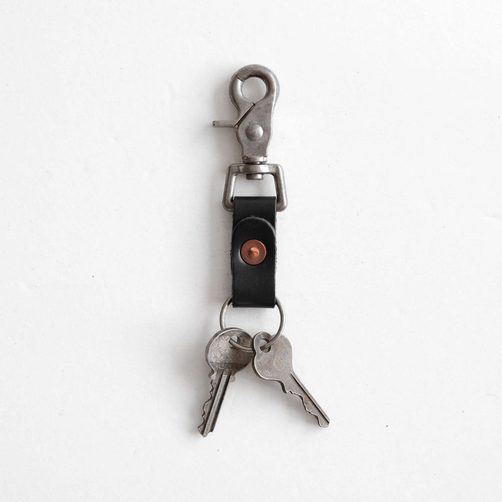 Black key clip with keys