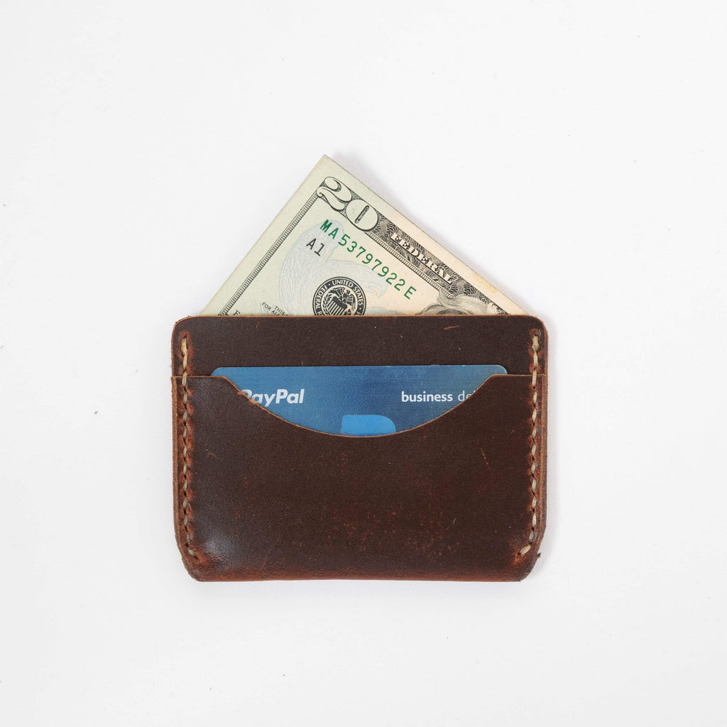 Autumn Harvest Card Case- mens leather wallet - leather wallets for women - KMM & Co.