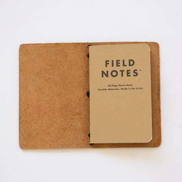Autumn Harvest Travel Notebook- leather journal - leather notebook - KMM & Co.
