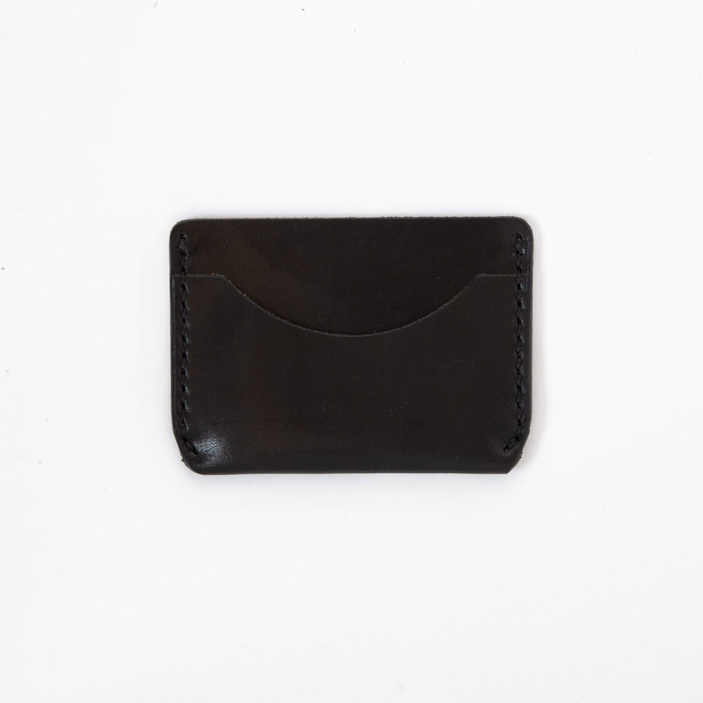 Black Card Case- mens leather wallet - leather wallets for women - KMM & Co.