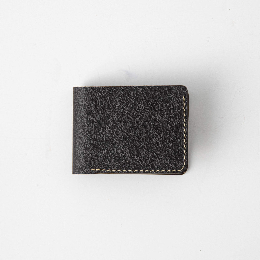 Brown Printed Grain Billfold- leather billfold wallet - mens leather bifold wallet - KMM & Co.