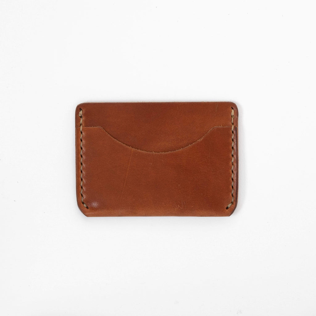 Buck Brown Card Case- mens leather wallet - leather wallets for women - KMM & Co.