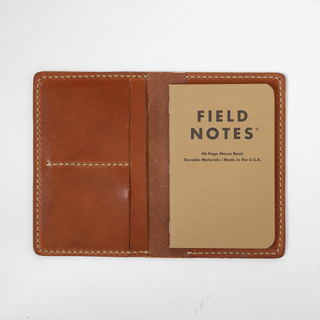 Buck Brown Notebook Wallet- leather notebook cover - passport holder - KMM & Co.