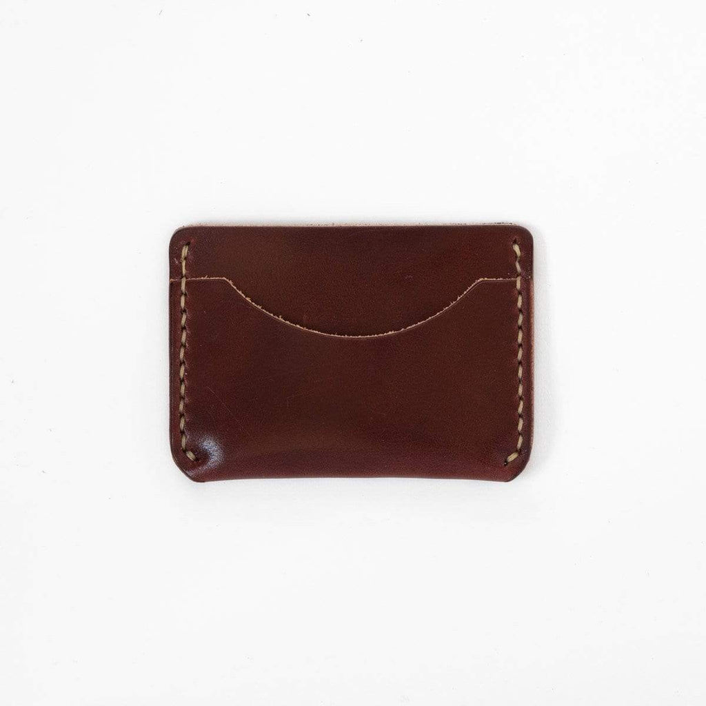 Burgundy Card Case- mens leather wallet - leather wallets for women - KMM & Co.