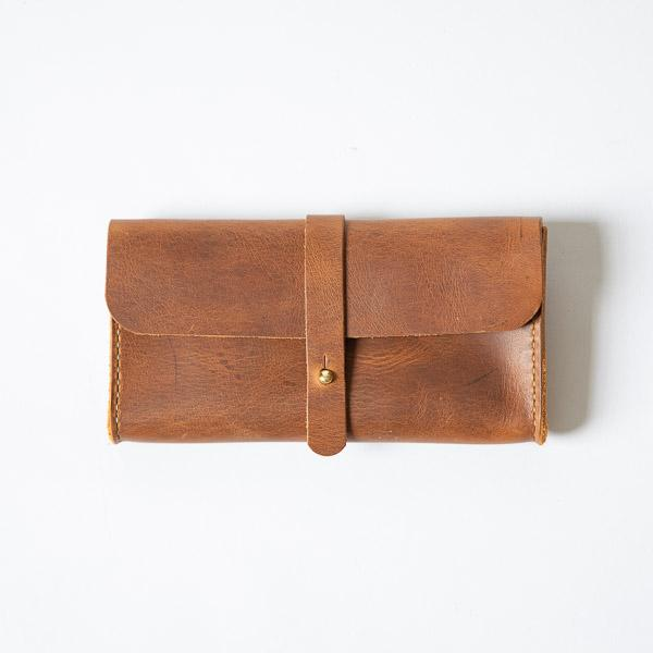 Cognac Clutch Wallet- leather clutch bag - leather handmade bags - KMM & Co.
