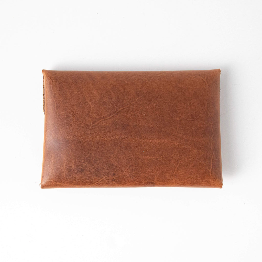 Cognac Envelope Clutch- leather clutch bag - handmade leather bags - KMM & Co.