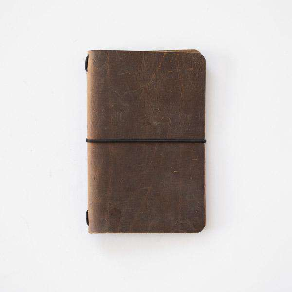 Crazy Horse Travel Notebook- leather journal - leather notebook - KMM & Co.