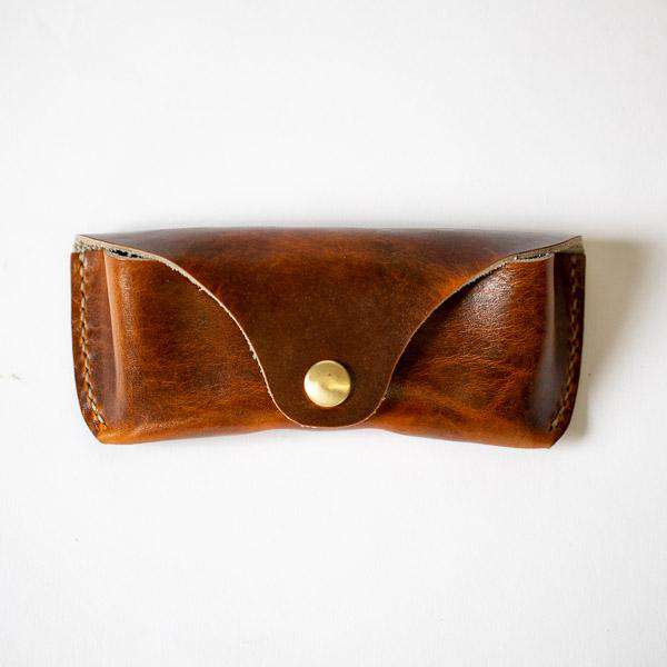 Hazelnut Sunglasses Case- leather glasses case - KMM & Co.