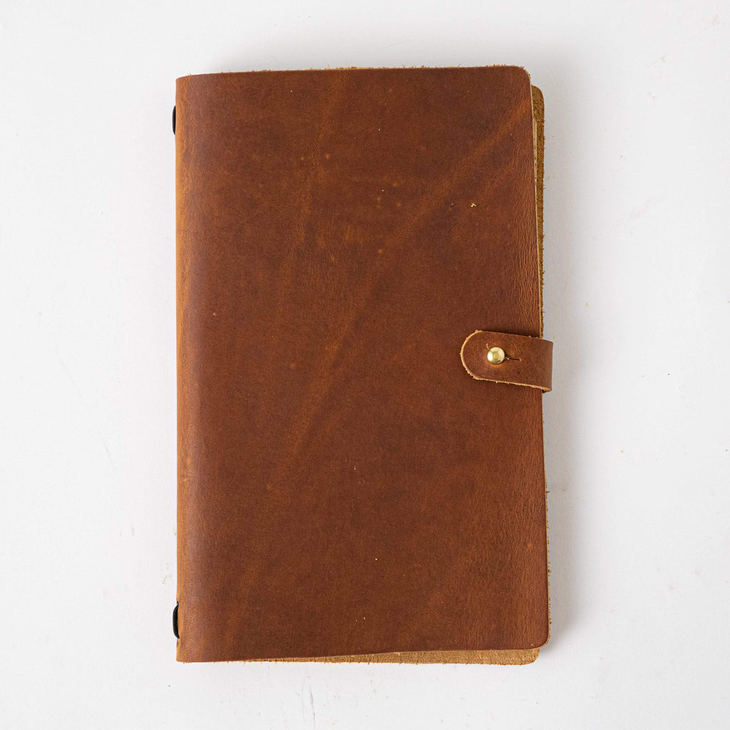 Honey Travel Journal- leather journal - leather notebook - KMM & Co.