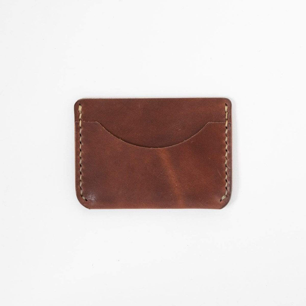 Medium Brown Card Case- mens leather wallet - leather wallets for women - KMM & Co.