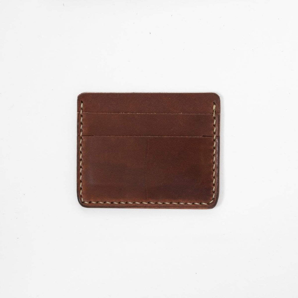 Medium Brown Slim Card Wallet- slim wallet - mens leather wallet - KMM & Co.
