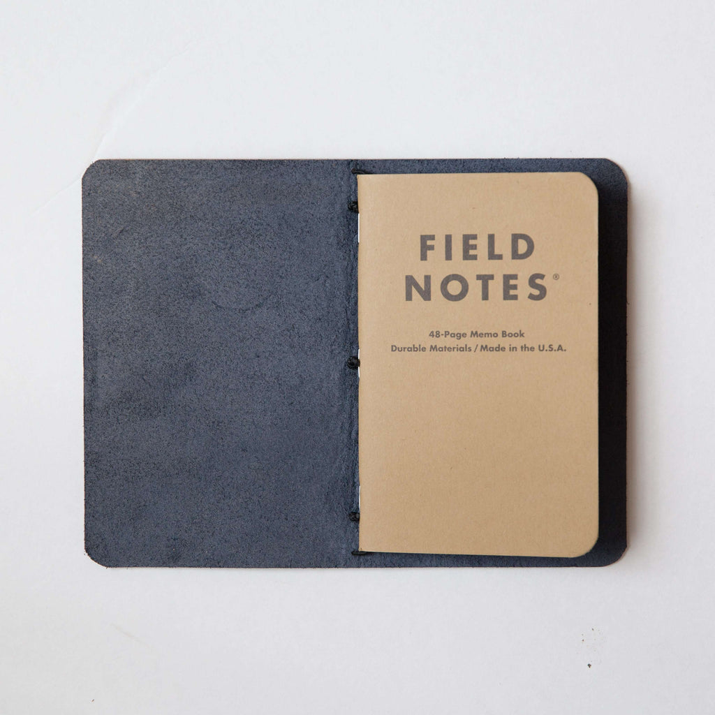 Navy Travel Notebook- leather journal - leather notebook - KMM & Co.