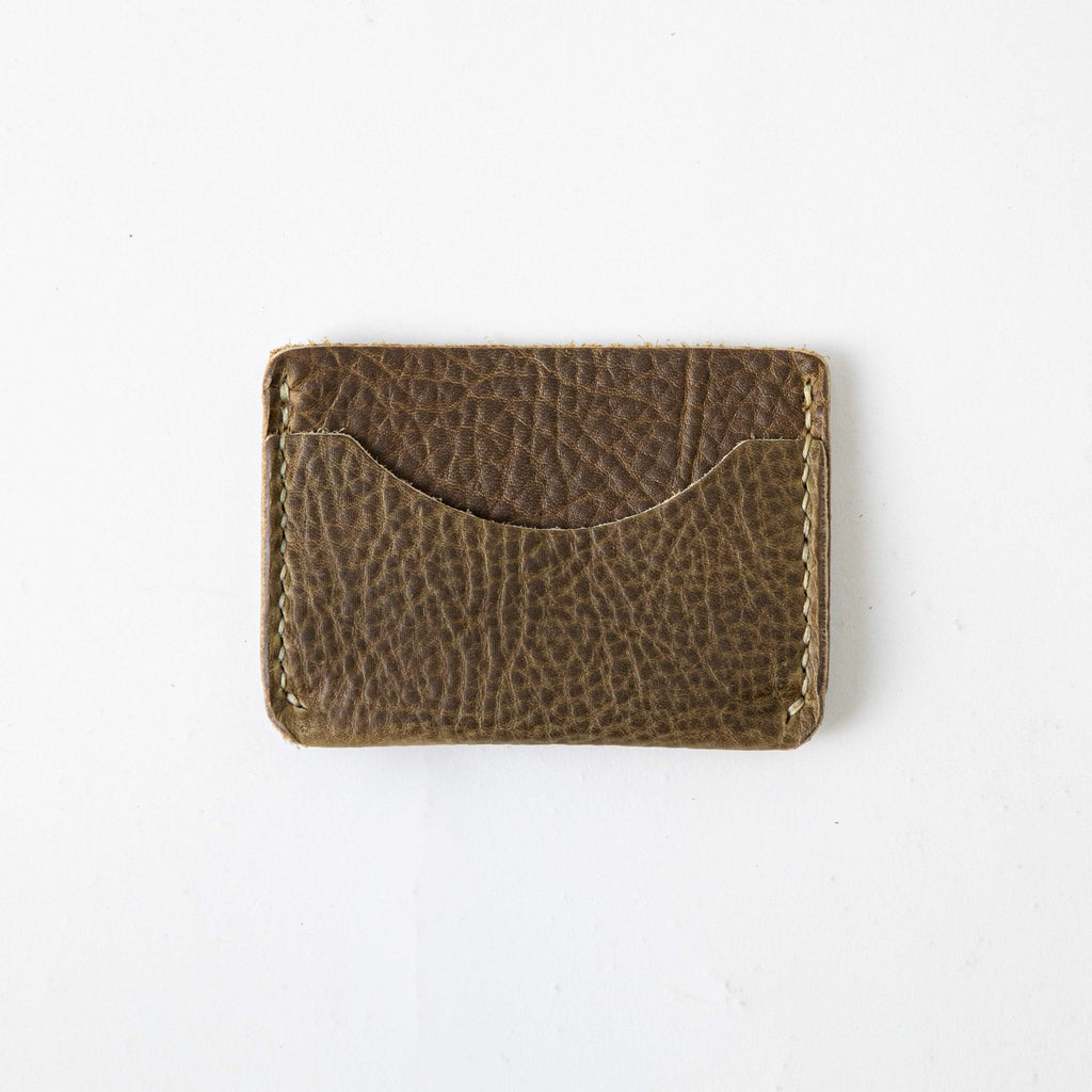 Olive Kodiak Card Case- mens leather wallet - leather wallets for women - KMM & Co.