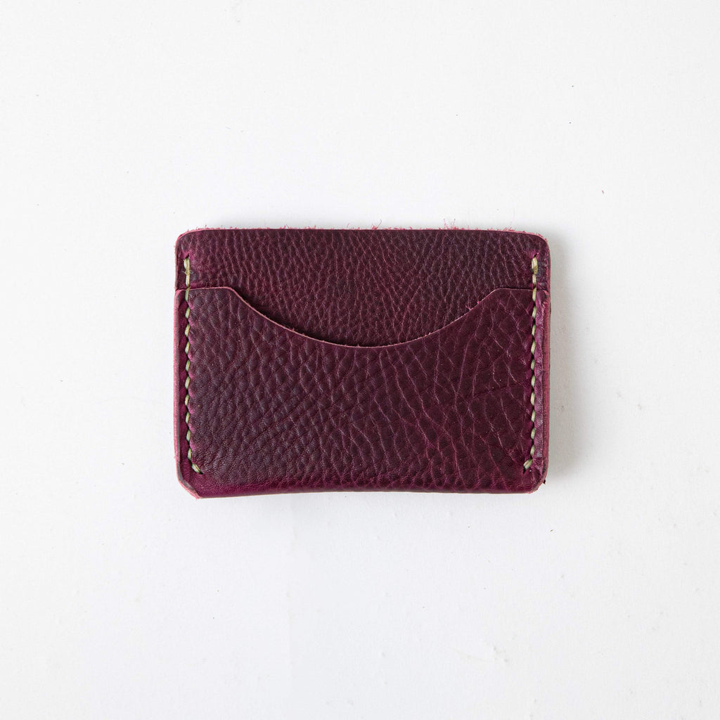 Purple Kodiak Card Case- mens leather wallet - leather wallets for women - KMM & Co.