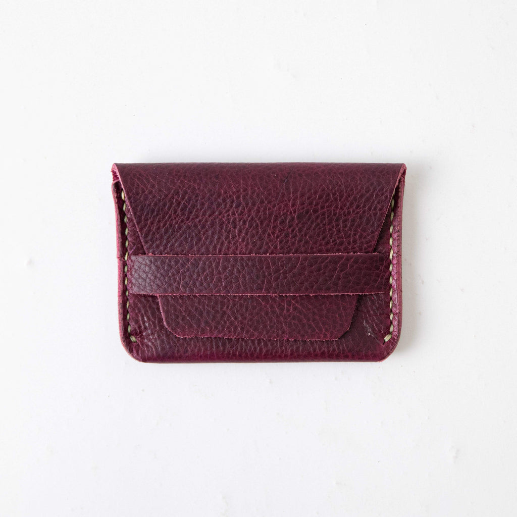 Purple Kodiak Flap Wallet- mens leather wallet - handmade leather wallets at KMM & Co.