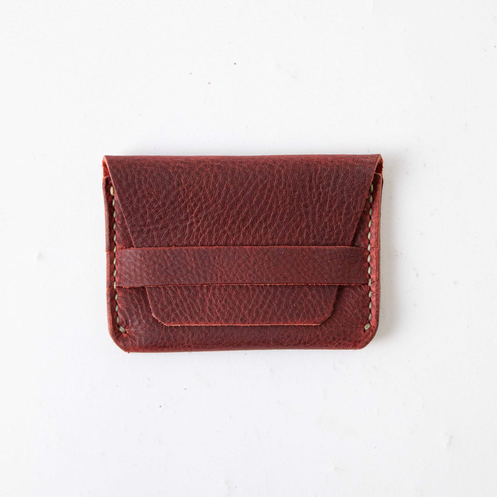 Red Kodiak Flap Wallet- mens leather wallet - handmade leather wallets at KMM & Co.