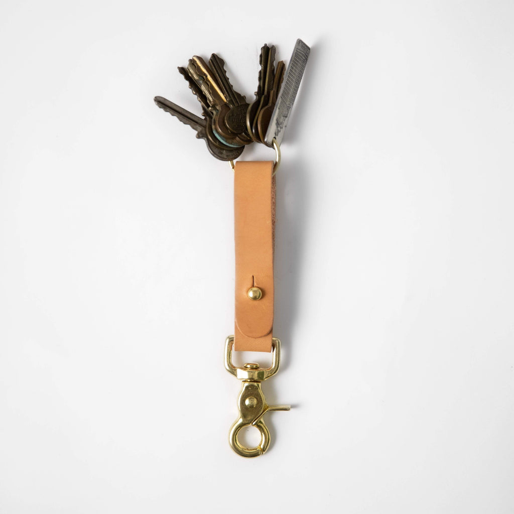 Russet Key Lanyard- leather keychain for men and women - KMM & Co.