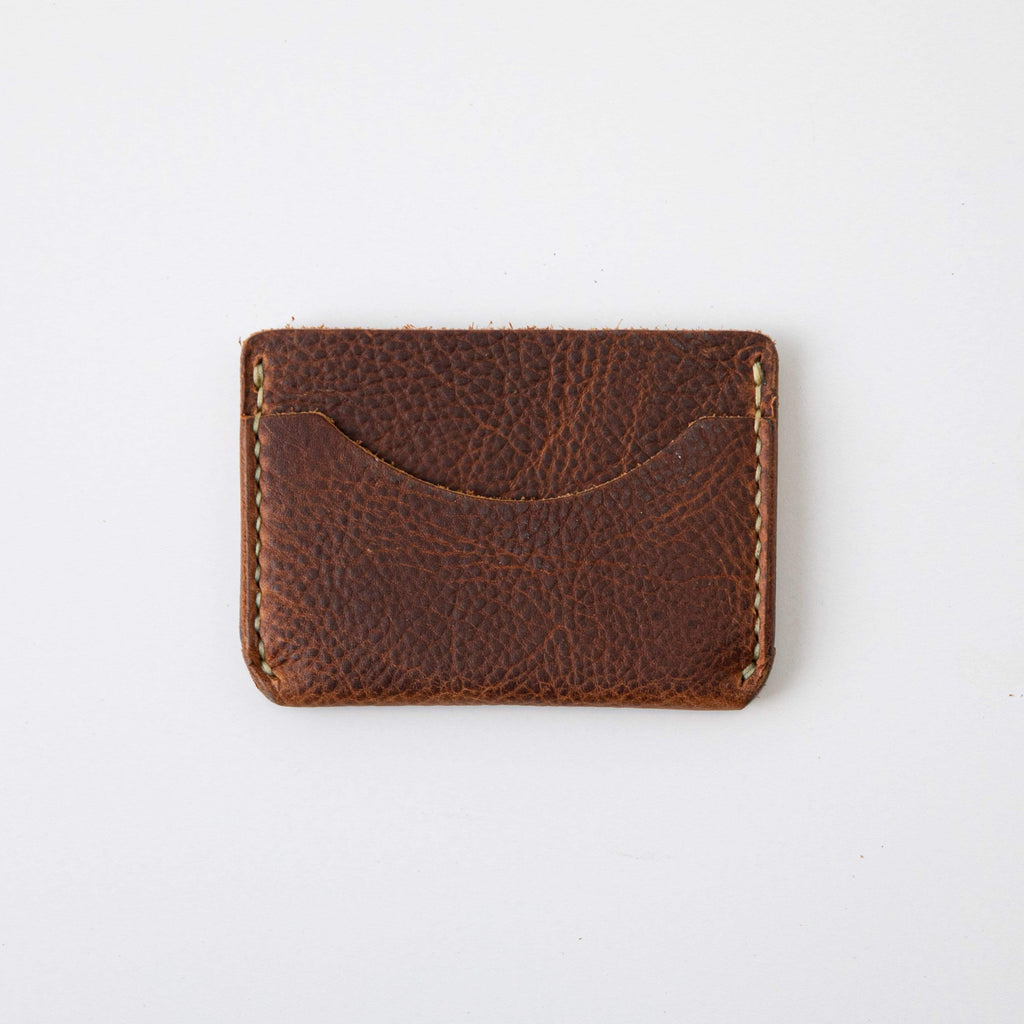 Tan Kodiak Card Case- mens leather wallet - leather wallets for women - KMM & Co.