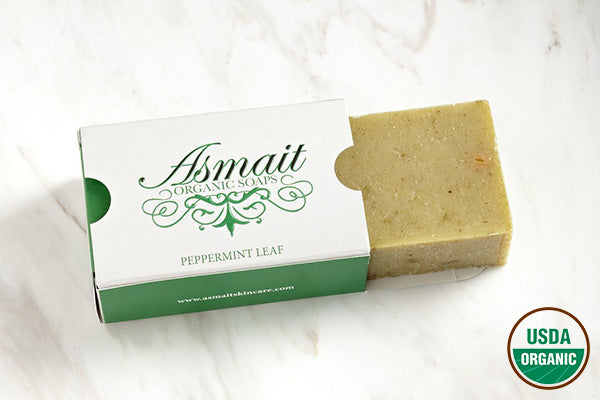 Organic Peppermint Leaf Soap