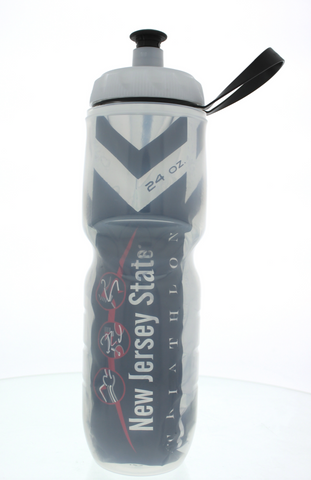 NJ Triathlon: 'Event Logo' 24 oz. Insulated Water Bottle - Silver - by Polar
