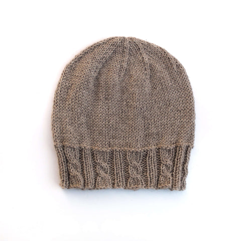 SwellKnits: Cabled Brim Knit Hat
