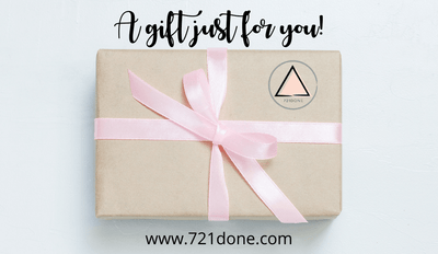 Gift Card purchase shows box wrapped with pink bow and text reads a gift just for you