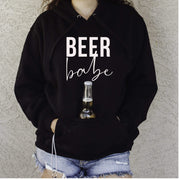 Beer Babe Hoodie with sewn in Can cooler - 721 Done