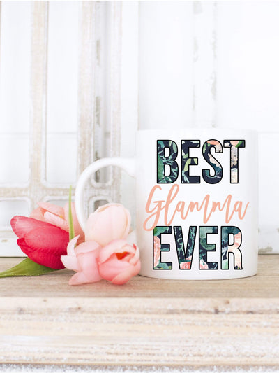 Best Glamma Ever Floral Print Coffee Mug - 721 Done