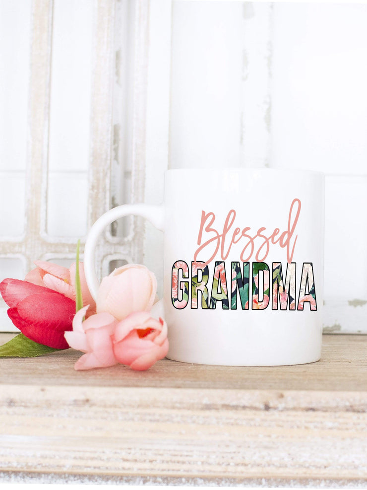 Blessed Grandma Floral Print Coffee mug gift for Grandma - 721 Done