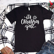 It's christmas y'all casual Christmas holiday t-shirts for women - 721 Done