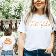 Fall Vibes script front, Pumpkin and floral back - 721 Done