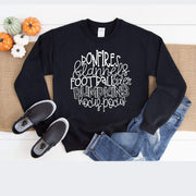 Bonfires and Flannels fall word art Crewneck - 721 Done