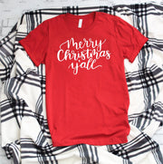 Merry Christmas Y'all Red Christmas Holiday t shirt for women /721done